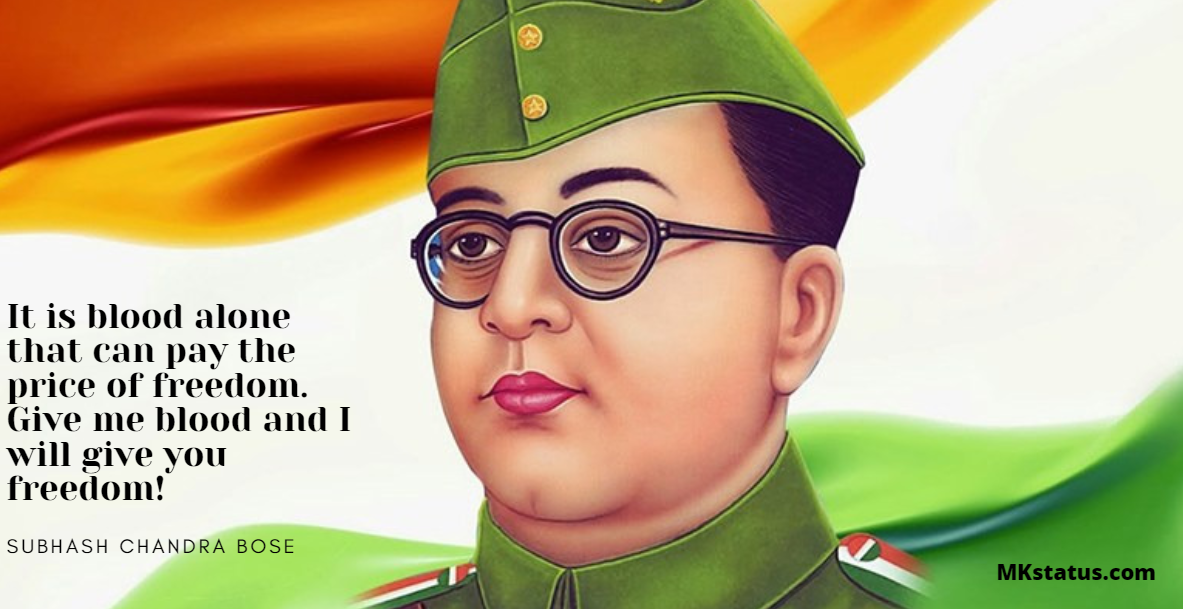 Top new Subhas Chandra Bose Quotes images whatsapp and fb status