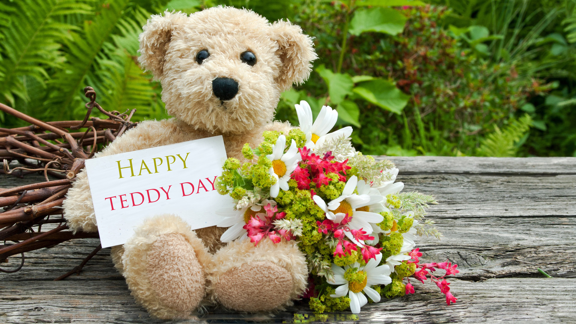 Awesome Happy Teddy Day greeting quotes and sms Images