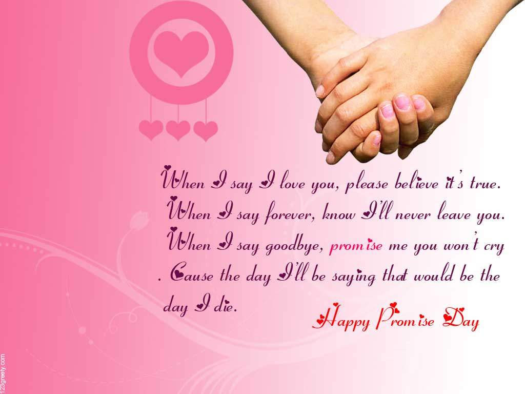 Beautiful Promise Day Wishing best Quotes images
