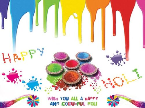 Beautiful colorful Happy Holi Wishing images with Quotes