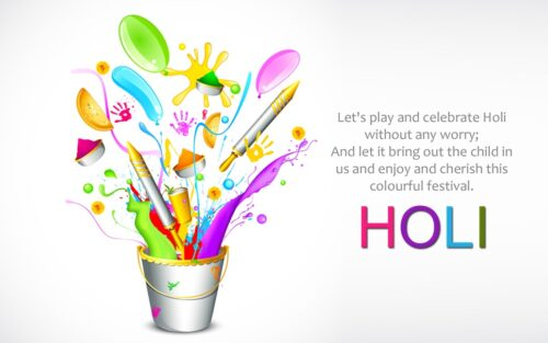 HD Wallpapers of Happy Holi Quotes