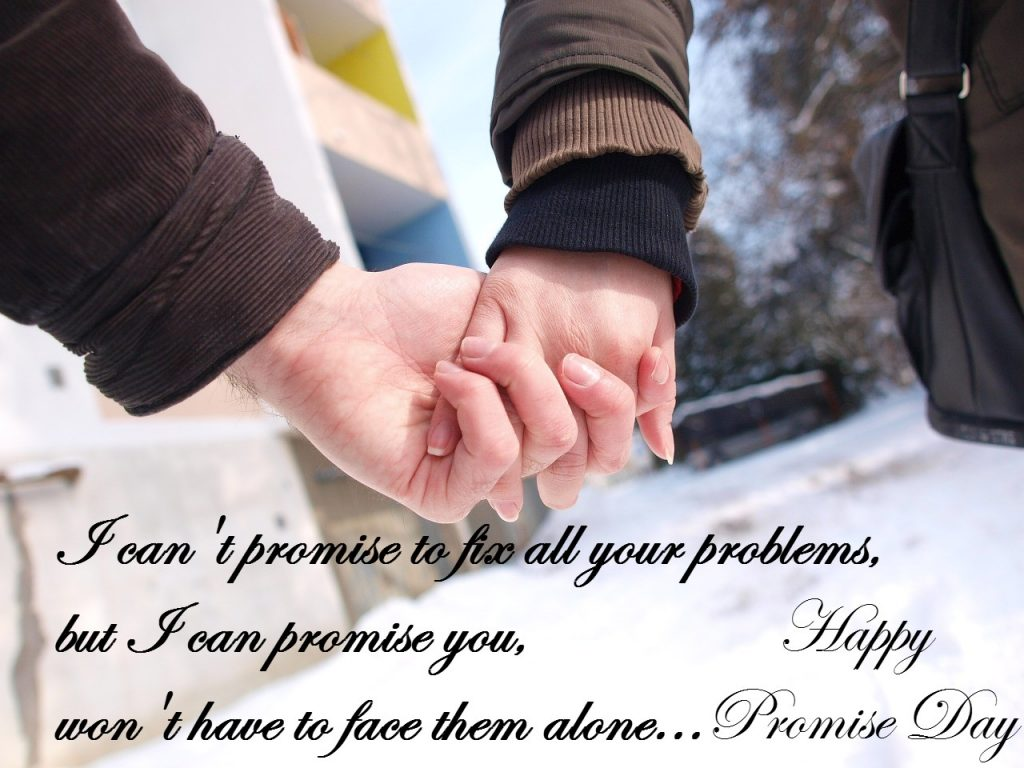 Lovely Promise Day Wishing Quotes SMS And Messages