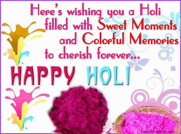 New Happy Holi Greeting Pics with Quotes