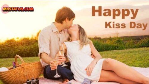 Happy Kiss Day wishing cute romantic couple pictures