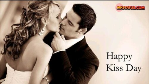 Happy Kiss Day wishing cute romantic handsome couple pictures
