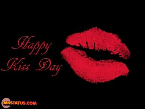 Happy Kiss Day greeting lips images