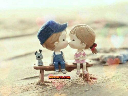 Top Happy Kiss Day wishing cute cartoon images