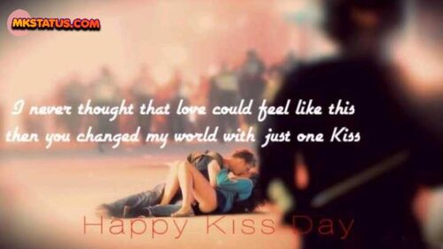Top Kiss Day Images of romantic couple quotes