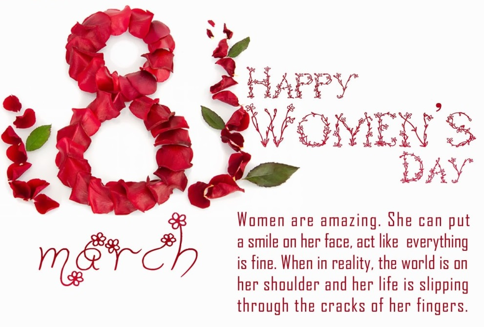 Happy International Women's Day 2018 Whats-app status images with Quotes and messages