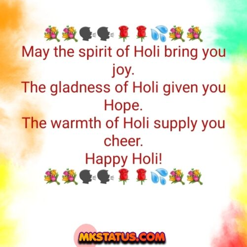 Holi greeting Quotes photos with colorful background