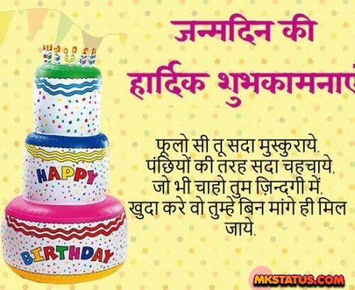 Top Happy Birthday wishing Quotes in Hind images for Friends