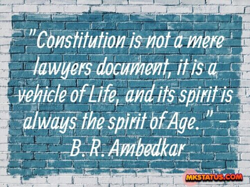 B. R. Ambedkar Constitutional Quotes Images