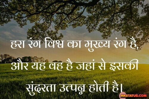Hindi Quotes of Earth day