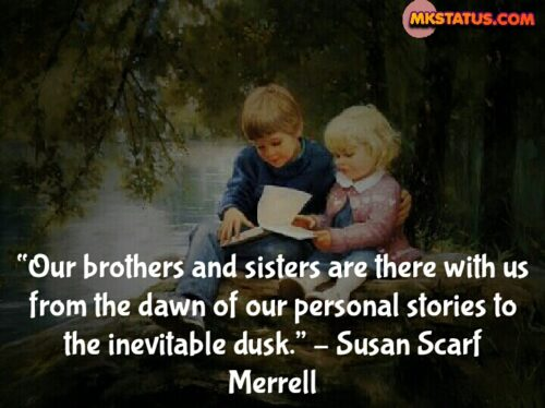 Sister and Brother Quotes in English