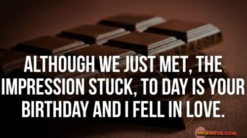 Happy Birthday Quotes images with chocolate background