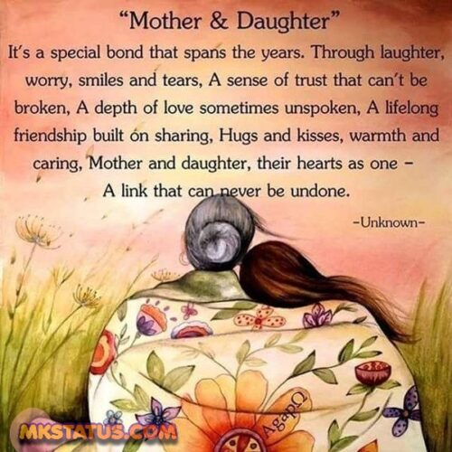 Mom & Daughter adoring Love Quotes images