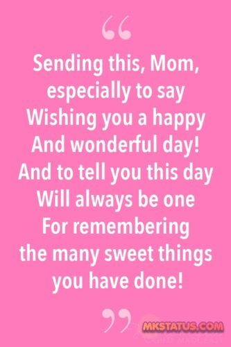 poems for mom in english