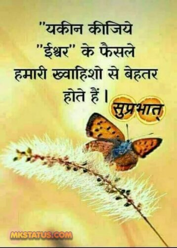 Good Morning Quotes in Hindi for whatsapp status & Dp