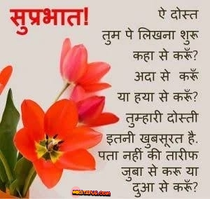 Top Beautiful Good Morning Wishes Quotes in Hindi images