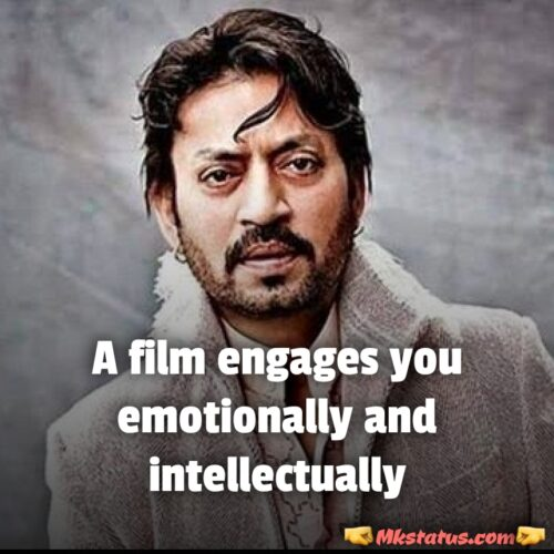 Irrfan khan Quotes in English for Instagram status