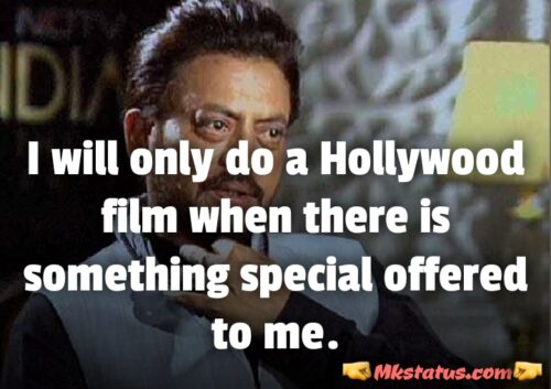 Irrfan khan Quotes images in English for status