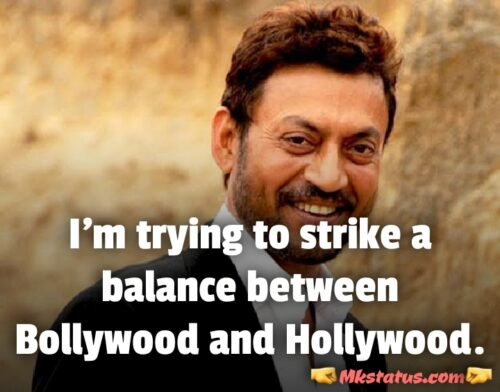 Irrfan khan Movies Quotes in English images