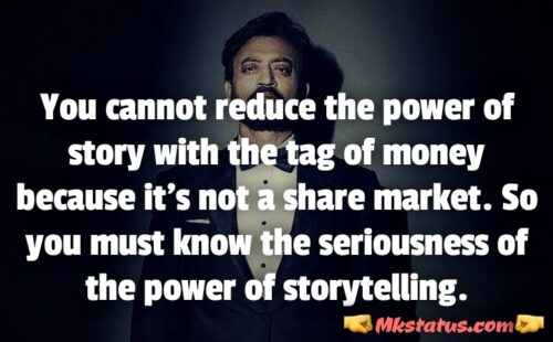 Irrfan khan Quotes in English for status