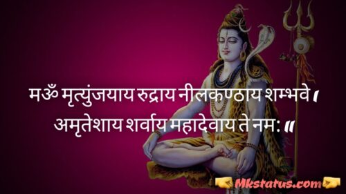 Latest Mahadev Quotes images in Hindi for status