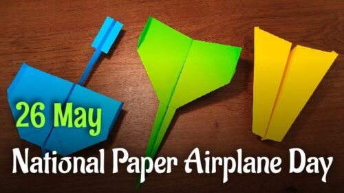 National Paper Airplane Day 2020 wishes images for status