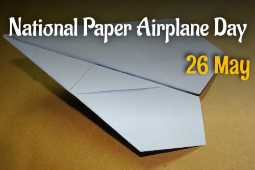 National Paper Airplane Day 2020 wishes images for Whatsapp status