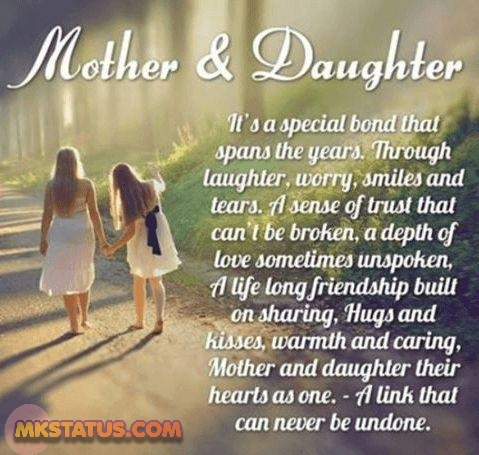 Happy Mother Day poem by daughter images in English