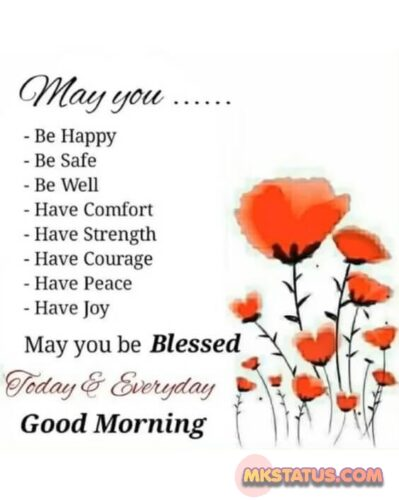 good morning image with flower - status image and photos