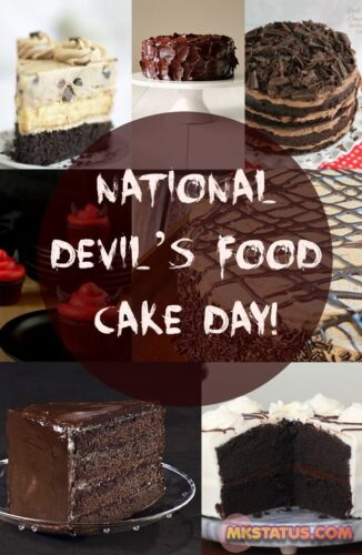 National Devil's Food Cake Day 2020 images for FB status