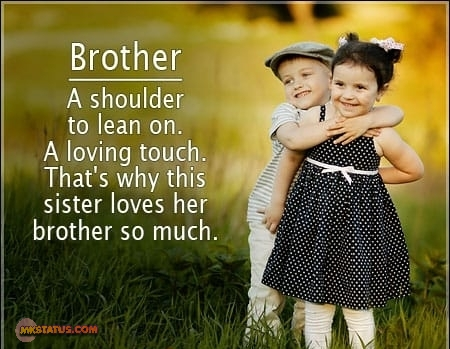 Wonderful Brother Quotes and messages images in english