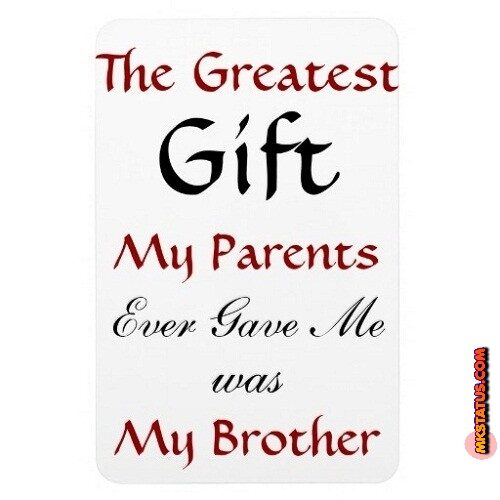 Amazing Brother's Day quotes images in English