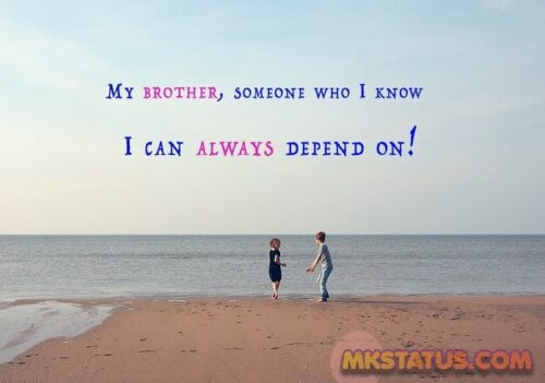 Adoring love showing Brother Quotes images
