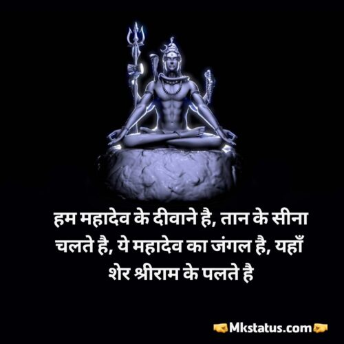 Top Mahakal Quotes status in hindi photos