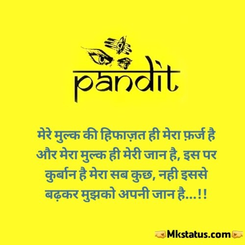 pandit status in hindi