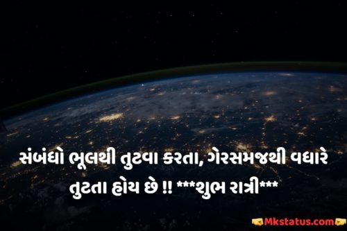 Gujarati Good Night wishes Quotes images