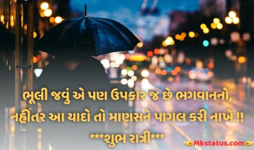 Inspirational Quotes about Good Night in Gujarati