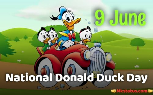 Happy National Donald Duck Day greeting photos
