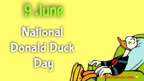9 June Donald Duck Day wishes images