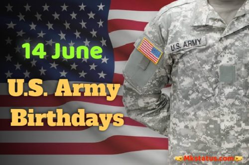 U.S. Army Birthday 2020 greeting images for Whatsapp status and DP