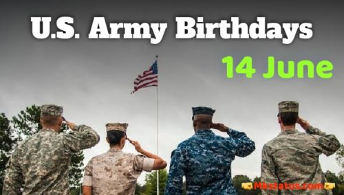 U.S. Army Birthday 2020 greeting images for status