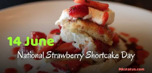 14 June National Strawberry Shortcake Day greeting photos