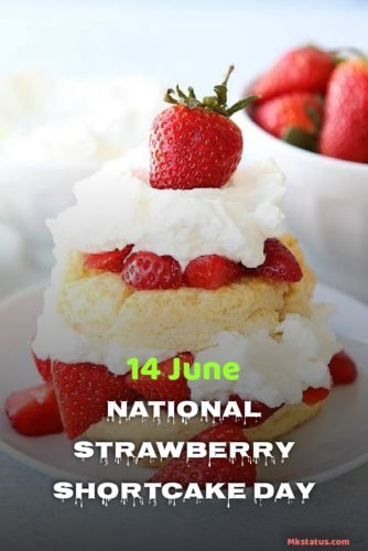 Lovely Happy National Strawberry Shortcake Day wishes Images