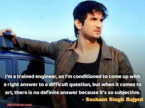 Indian Actor Sushant Singh Rajput Quotes images