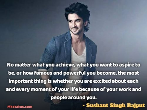 Download Sushant Singh Rajput Quotes images