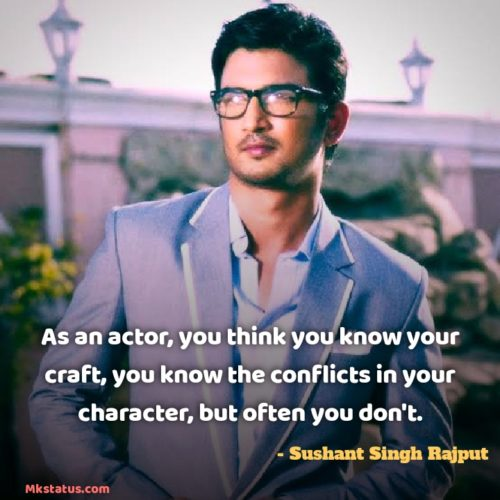Famous Bollywood Actor Sushant Singh Rajput Quotes images