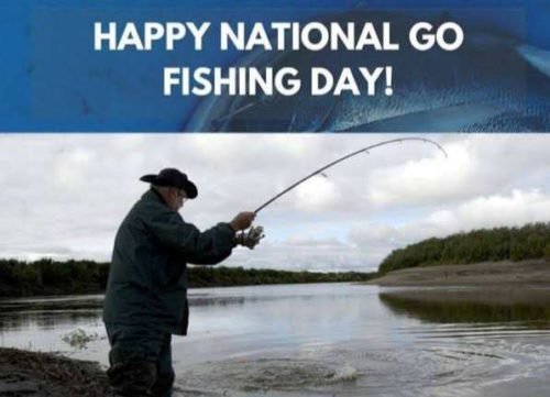 Happy National Go Fishing Day 2020 greeting photos